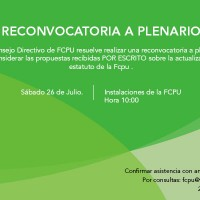 Reconvocatoria a Plenario